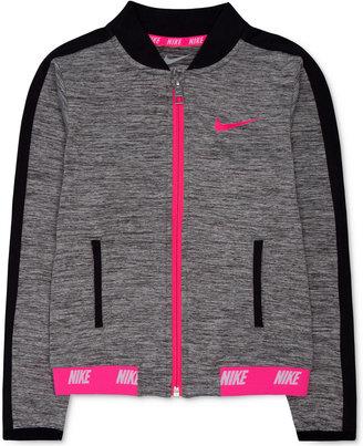 Nike Little Girls' Zip-Up Active Jacket $50 thestylecure.com