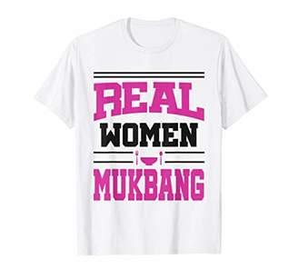 Mukbang Women Funny Korean Food Eating Female T-shirt Gift