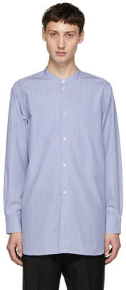Studio Nicholson Blue Stand Collar Shirt