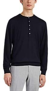 P. Johnson Men's Fine Merino Wool Henley - Navy