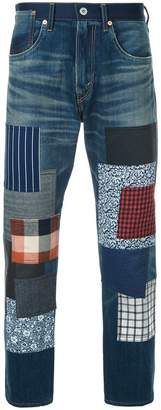 Junya Watanabe patch embellished cropped jeans