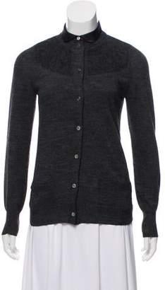 Sacai Knit Button-Up Cardigan