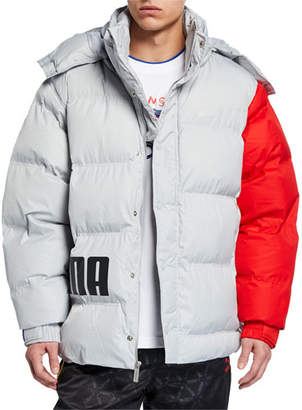 Puma Men's x Ader Colorblock Puffer Jacket