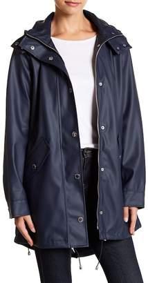 London Fog Solid Slicker Rain Jacket