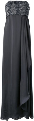 Armani Collezioni strapless draped gown $1,148 thestylecure.com