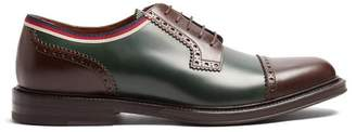 Gucci Beyond Leather Derby Shoes - Mens - Green Multi