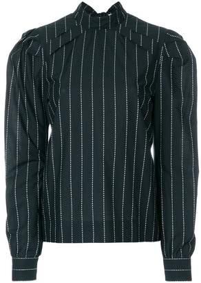 MSGM striped button-back blouse