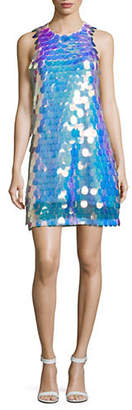 Laundry by Shelli Segal Droplet Sequined Shift Dress