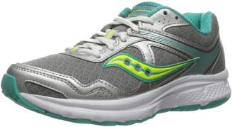 Saucony Women's Grid Cohesion 10 Running Shoes, Grey/Grey/Mint