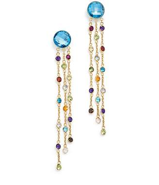 Bloomingdale's Blue Topaz and Multi Gemstone Drop Earrings in 14K Yellow Gold - 100% Exclusive