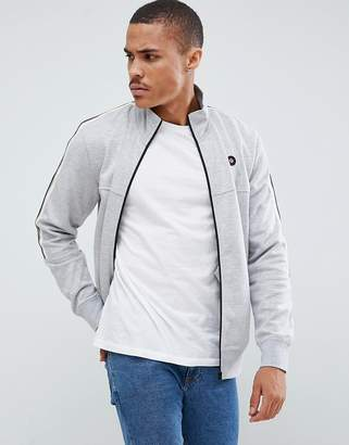 Jack and Jones Core jersey track top with arm stripe