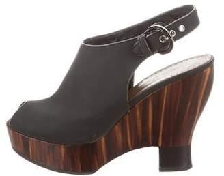 Proenza Schouler Wooden Wedge Sandals