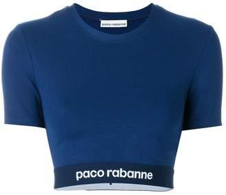 Paco Rabanne cropped elasticated hem T-shirt