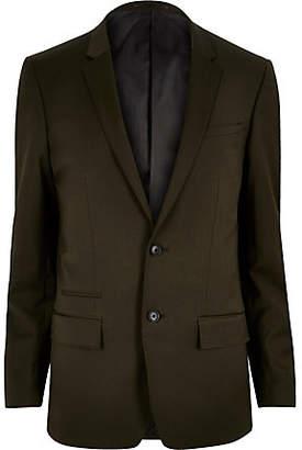 River Island Khaki skinny suit jacket