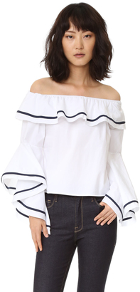 Style Mafia Blaze Off the Shoulder Top $85 thestylecure.com