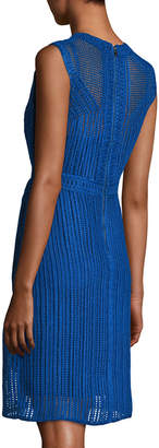 Neiman Marcus Kobi Halperin Jaydyn Sleeveless Crocheted Cotton Dress, Blue