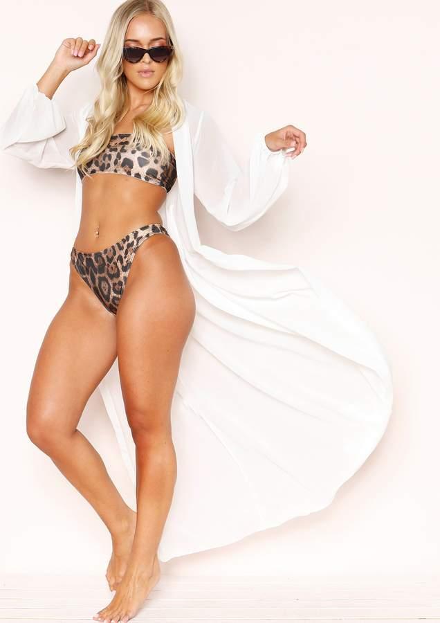 Missyempire Leshauna Leopard Print Bandeau Bikini