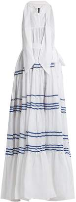 Lisa Marie Fernandez Ric-rac trimmed linen maxi dress