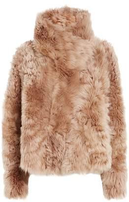 Yves Salomon Reversible Shearling Cropped Coat