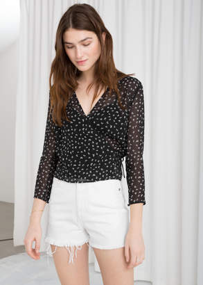 And other stories Sheer Wrap Blouse