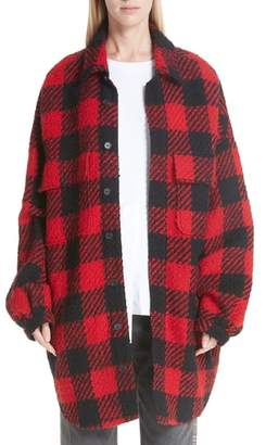 Monse Plaid Shirt Jacket