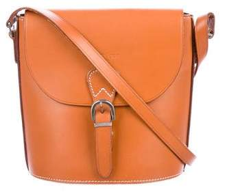 Courreges Leather Buckle Crossbody Bag