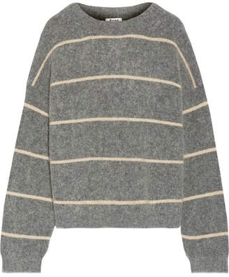 Acne Studios - Rhira Striped Knitted Sweater - Gray