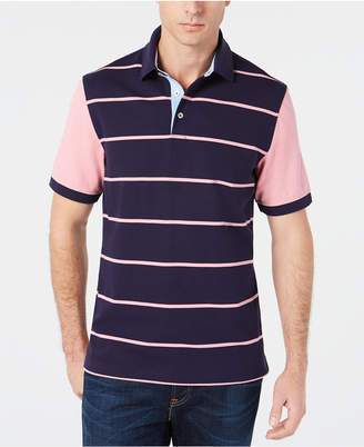 Club Room Men's Regular-Fit Stretch Colorblocked Stripe Polo