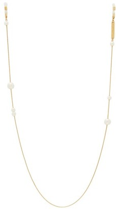 Frame Chain - Drop Pearl Embellished Gold Plated Glasses Chain - Womens - Gold Multi