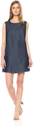 True Religion Women's Lace Up Chambray Dress
