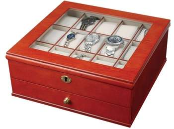 Chris Locking Watch & Jewelry Box