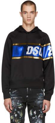 DSQUARED2 Black Shiny Logo Hoodie