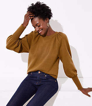 LOFT Blouson Sleeve Sweater