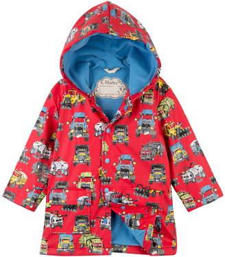 Hatley Monster Trucks Hooded Waterproof Raincoat