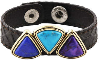 Artsmith BY BARSE Art Smith by BARSE Multicolor Howlite Brass & Leather Bracelet