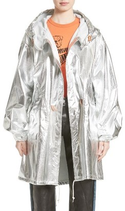 Women's Junya Watanabe Metallic Hooded Fishtail Parka $1,165 thestylecure.com