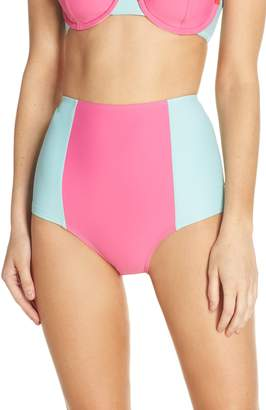 J.Crew Colorblock High Waist Bikini Bottoms