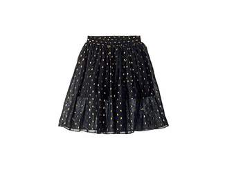 Stella McCartney Amalie Gold Polka Dot Tulle Overlay Skirt (Toddler/Little Kids/Big Kids)