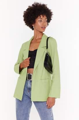 Nasty Gal Womens It'S Risky Business Oversized Linen Blazer - Green - 10