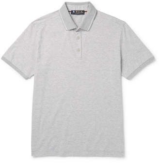 Loro Piana Matchplay Mélange Tech-Jersey Golf Polo Shirt