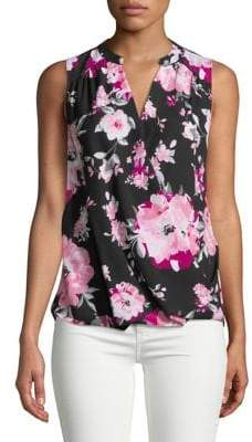 INC International Concepts Floral Sleeveless Top