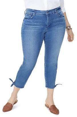 NYDJ Plus Ami Skinny Tie-Hem Ankle Jeans in Wishful