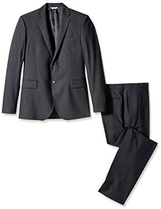 Pierre Balmain Men's Striped 2 Button Flap Pocket Suit