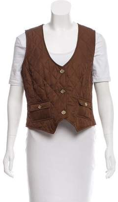 Burberry Quilted Button-Up Vest