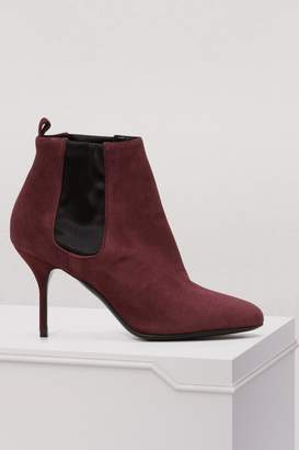 Pierre Hardy Joe 80mm suede and satin ankle boots