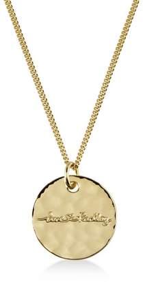 Radley Gold 'Broad Street' Disc Pendant Necklace