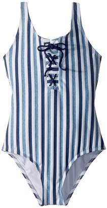 Splendid Littles Tie-Dye Stripe One-Piece Girl's Swimsuits One Piece