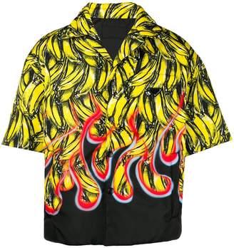Prada bananas print padded shirt