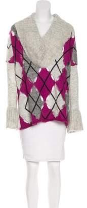 Jean Paul Gaultier Mohair-Blend Argyle Sweater