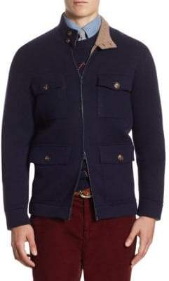 Brunello Cucinelli Long-Sleeve Pocket Cardigan